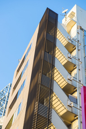 building safety: fire escape of building inTokyo city, staircase