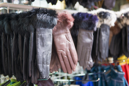 garb: fashion leather gloves in Ameyoko market, accessories