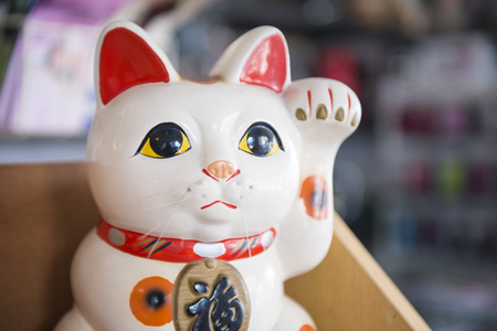 beckoning: beckoning cat lucky doll from Japan , cute