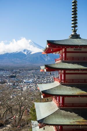 chureito: Chureito Pagoda view point with Mt.Fuji background , landmark