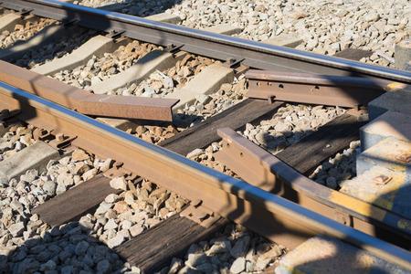 railway transportation: railroad tracks for train transportation, railway