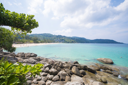kata: beautiful view of Kata Noi beach in Phuket Stock Photo