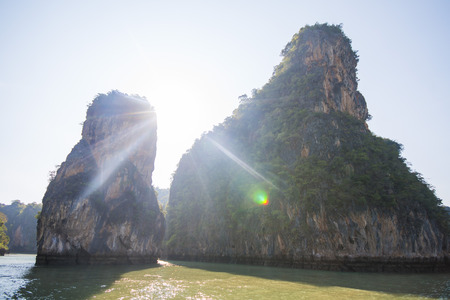 phang nga: limestone mountain at Phang Nga Bay, landscape