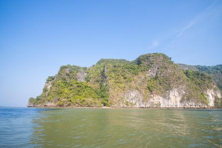phang nga: limestone mountain at Phang Nga Bay, landscape