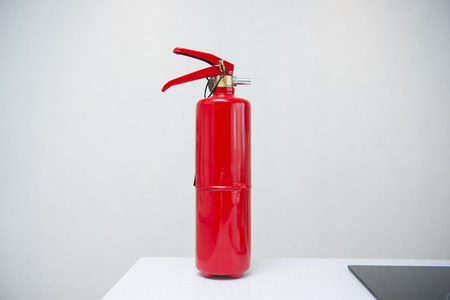 gauges: red fire extinguisher, gauges fire safety