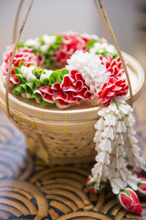 garland jasmine clay for decoration in restaurant