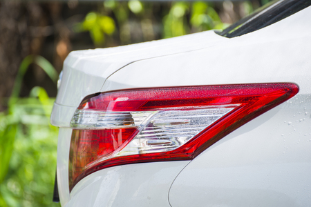 washing car: washing car in the car wash, clean Stock Photo
