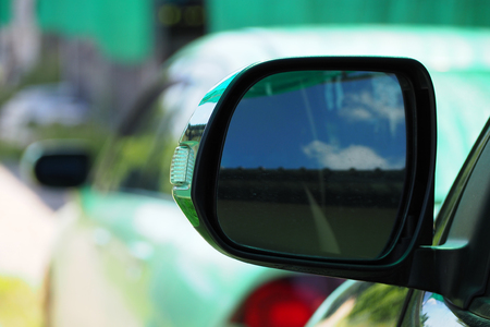 car accessory: Car Mirror of white car, accessory