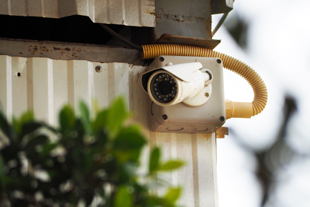 closed circuit: closed circuit TV camera for security, electronic Stock Photo
