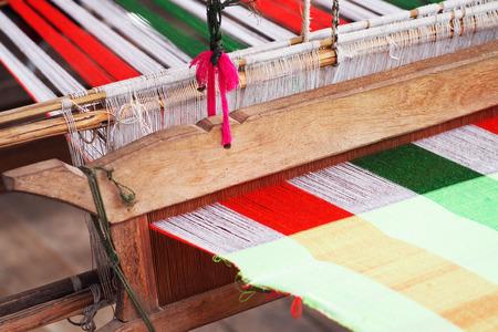 loom: Loom weaving in thailand, traditional thai fabric tool