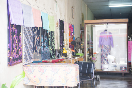 phangnga: Phang-nga, Thailand - July 24, 2016 : sewing shop in Takuapa district at Phang-nga, Tailor Shop