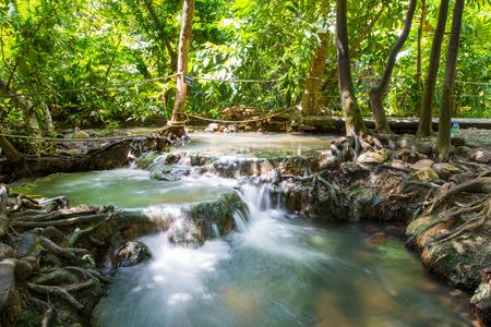 Hot spring waterfall at Khlong Thom Nuea, Krabi, Thailand