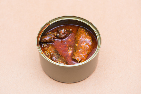 food can: Canned fish , food can ready to eat , aluminium Stock Photo