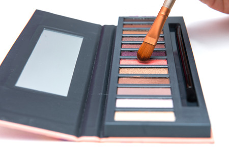 eyeshadow palette cosmetic for women, makeup Stock Photo