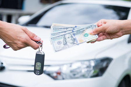 Spend money dollar to buy the car, cash