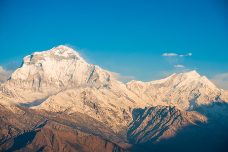 iv: beautiful snow mountain of Annapurna Himalayan Range , Nepal