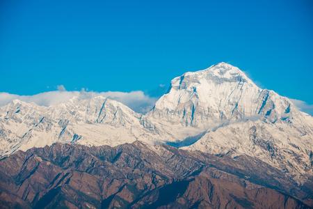 beautiful snow mountain of Annapurna Himalayan Range , Nepal