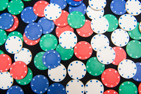 gambler: casino chips for play in casino , gambling Stock Photo