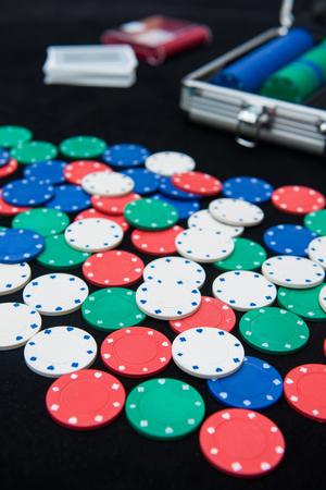 casino chips for play in casino , gambling Stock Photo