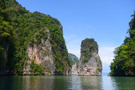phang nga: Beautiful Island in Phang Nga Bay, Thailand Stock Photo