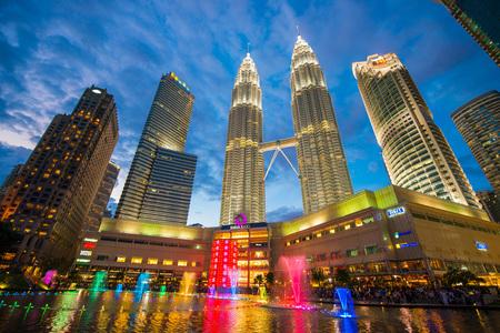 Malaysia - 12 Febuary 2017 :: Petronas tower symbol of Kuala lumpur , Malaysia Editorial