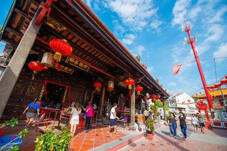 Malaysia - 11 Febuary 2017 ::Cheng Hoon Teng Temple in Melaka , shrine Editorial