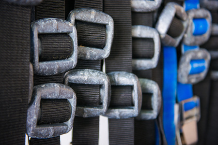 scuba diving lead weight and belts , diving Stock Photo