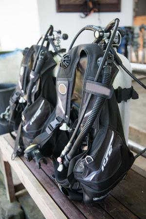 buoyancy compensator equipment for diver, scuba Stock Photo