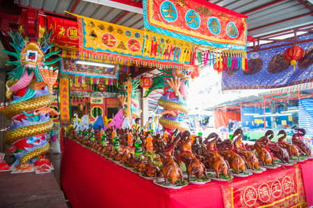 Phuket, Thailand - September 9, 2017 :Phuket Por Tor Festival are traditionally held to ancestor worship in Chinese temple, Phuket, Thailand Editorial