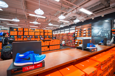Osaka, Japan - November 16, 2017 :Nike factory store in Rinku premium outlet mall, Osaka, Japan