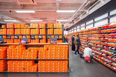 Osaka, Japan November 16, 2017 :Nike factory store in Rinku premium outlet mall, Osaka, Japan