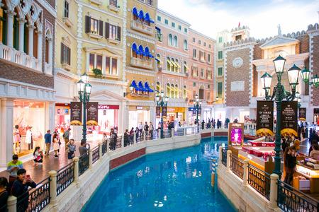 Macau - January 16, 2018 :Interior view of the Venetian Hotel, Venetian Hotel is luxury hotel and the largest casino in the world