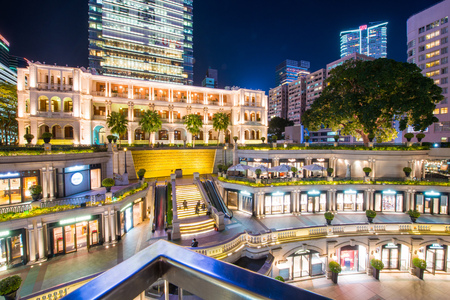 Tsim Sha Tsui, Hong Kong - January 10, 2018 :1881 Heritage, The old building once used as former Marine Police Headquarters, It has revitalized into a shopping, Hotel, Landmark 에디토리얼