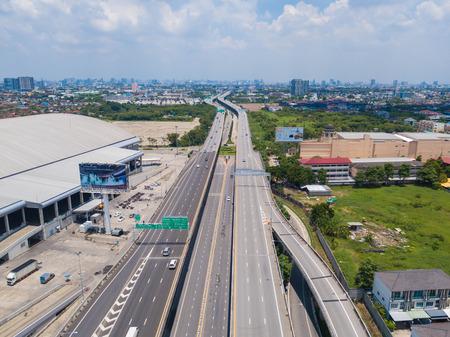 26 may 2018, Bangkok::aerial view of expressway in Bangkok, Thailand