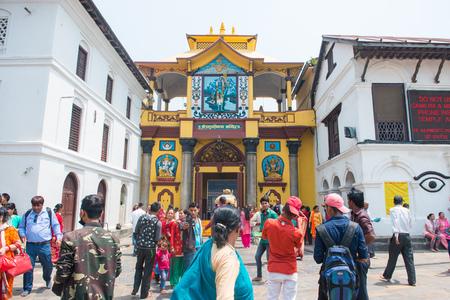 23 April 2018 - Nepal ::Hindu people come to visit Pashupatinath temple , Nepal Editorial
