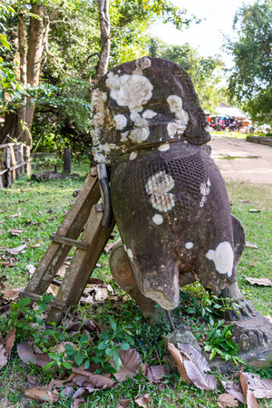 Stone craving in Beng Mealea buddhist temple,Cambodia