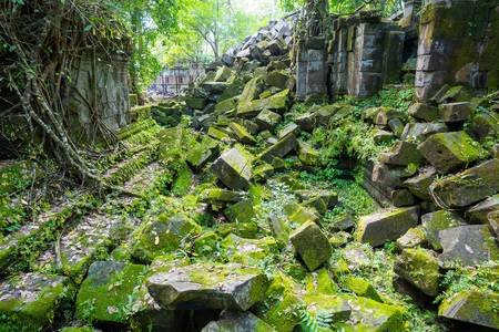 Ruin at Beng Mealea temple,Cambodia 版權商用圖片