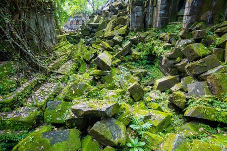 Ruin at Beng Mealea temple,Cambodia Stock Photo