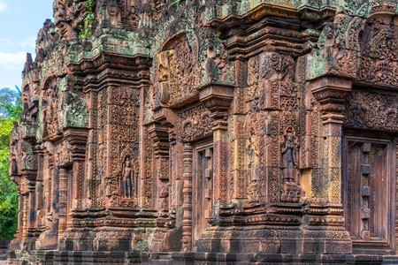 Banteay Srei beautiful temple at Angkor, Cambodia