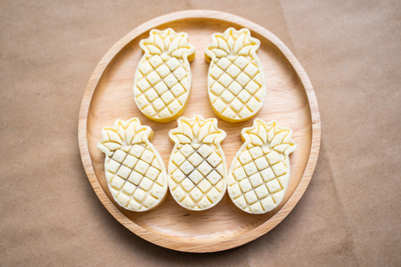 pineapple cheese tart pastries recipe,baked Banco de Imagens