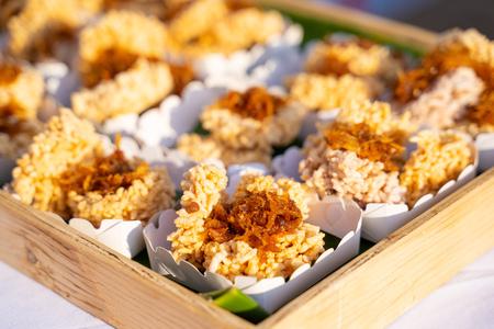 """Khao Tan"" rice craker thai dessert,dessert"