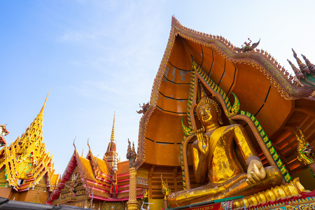 big buddha statue at Wat Tham Sua - Kanchanaburi,temple 스톡 콘텐츠
