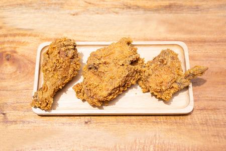 crispy fried chicken popular fast food,chicken Banco de Imagens