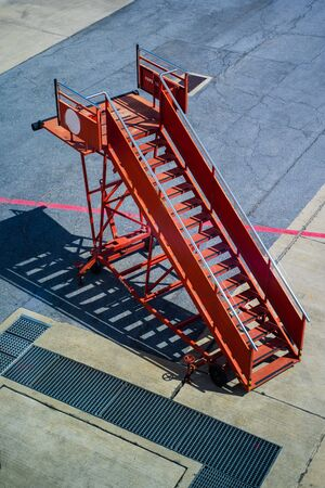 fight ladder ramp staircase to airplane,stairway