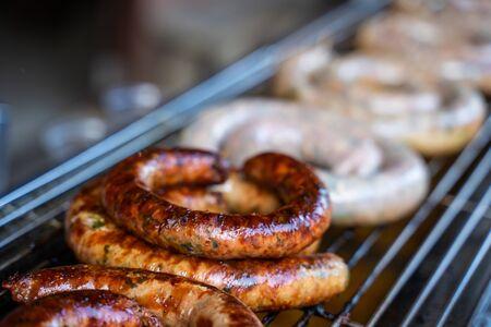 Sai Aua-northern thai spicy sausage,sausage 写真素材
