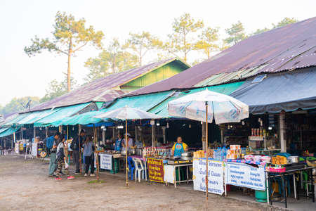 26 January 2020-Loei : local shop for hiker on Phu Kradueng mountain, Thailand