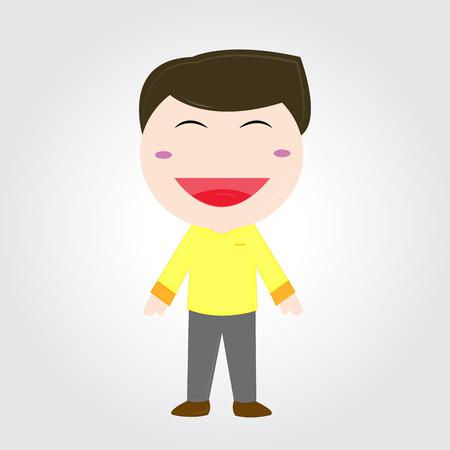 Smiling boy .
