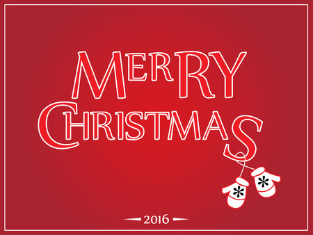 christmas greeting card: Christmas Greeting Card. Merry Christmas lettering, vector