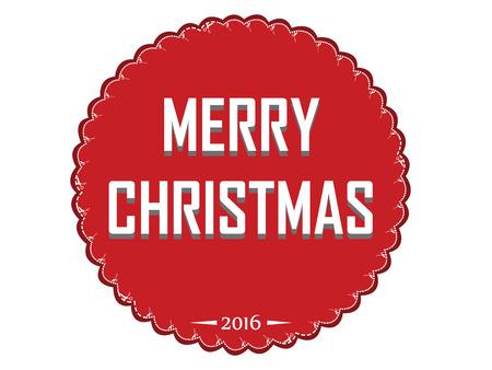 christmas greeting: Christmas Greeting Card. Merry Christmas lettering, vector