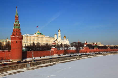 Moscow, View of Kremlin